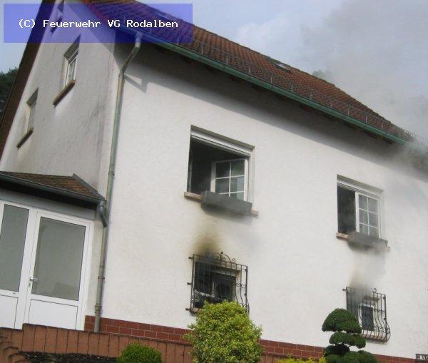 B1 - Gebäudebrand vom 23.04.2018  |  (C) Feuerwehr VG Rodalben (2018)
