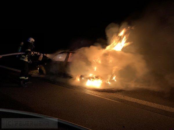 B2.03 - Fahrzeugbrand groß vom 15.03.2019  |  (C) Feuerwehr VG Rodalben (2019)